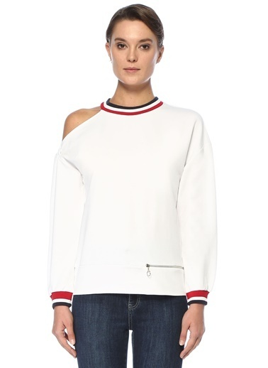 Que Sweatshirt Beyaz